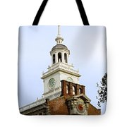 Independence Hall Clocks Tote Bag