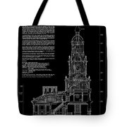 Independence Hall Transverse Section - Philadelphia Tote Bag