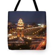 Independence Monument, Cambodia Tote Bag