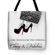 Independent Quote Black And White Tote Bag