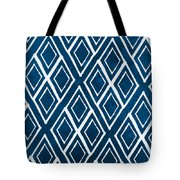 Indgo And White Diamonds Large Tote Bag