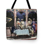 India  British Colonial Era  Banquet At The Palace Of Rais In Mynere Tote Bag