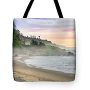 Indian Beach One Foggy Morning Tote Bag