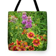 Indian Blankets And Lemon Horsemint Tote Bag
