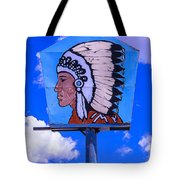 Indian Chief Sign Tote Bag
