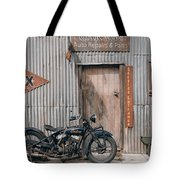 Indian Chout At The Old Okains Bay Garage 3 Tote Bag