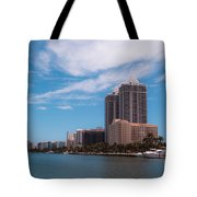 Indian Creek And Blue Tower Condos Tote Bag