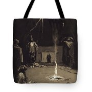 Indian Fire God. The Going Of The Medicine-horse Tote Bag