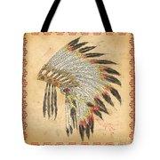 Indian Head Dress-a Tote Bag