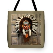 Indian Headdress In  Brown Tote Bag