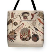 Indian Implements And Arms Tote Bag