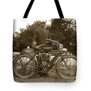 Indian Camelback Motorcycle Circa 1908 Tote Bag