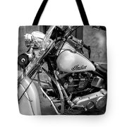 Indian Motorcycle In French Quarter-bw Tote Bag