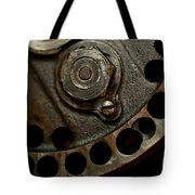 Indian Racer Crankshaft Fly Wheel Tote Bag