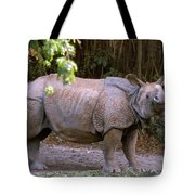 Indian Rhinoceros Tote Bag