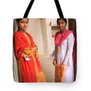 Indian Sewing Students Tote Bag