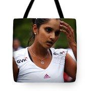 Indian Tennis Player Sania Mirza Tote Bag by Nishanth Gopinathan