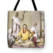 Indian Woman In Her Finery, With Guests Tote Bag