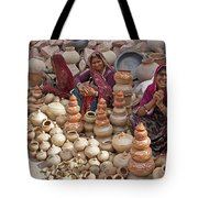 Indian Women Selling Pottery Tote Bag