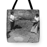 Indian Women Winnowing Wheat Tote Bag