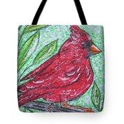 Indiana Cardinal Redbird Tote Bag