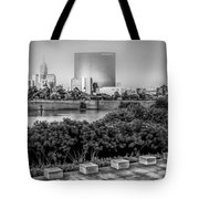 Indiana - Downtown From Across White River Panoramic Tote Bag