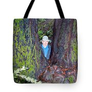 Indiana Jones In Armstrong Redwoods State Preserve Near Guerneville-ca Tote Bag