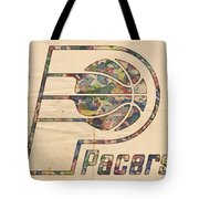 Indiana Pacers Poster Art Tote Bag