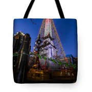 Indiana - Soldiers And Sailers Monument With Lights Tote Bag