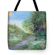 Indiana Spring Afternoon By The Creek Tote Bag