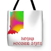 Indiana State Map Collection 2 Tote Bag