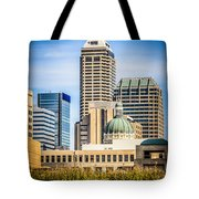 Indianapolis Cityscape Downtown City Buildings Tote Bag by Paul Velgos