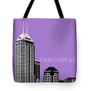 Indianapolis Indiana Skyline - Violet Tote Bag