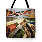 Indianapolis Motor Speedway - Vintage Lithograph Tote Bag