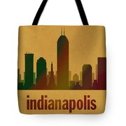 Indianapolis Skyline Watercolor On Parchment Tote Bag