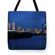 Indianapolis State Capitol And Skyline Tote Bag