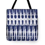 Indigo And White Shibori Design Tote Bag by Linda Woods