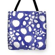 Indigo Bubbles- Contemporary Absrtract Watercolor Tote Bag