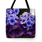 Indigo Flowers Tote Bag