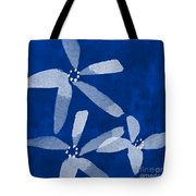 Indigo Flowers Tote Bag by Linda Woods