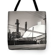 Industrial Art 2 Sepia Tote Bag