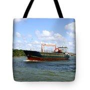 Industrial Cargo Ship Tote Bag