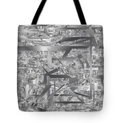 Industrial Chaos Tote Bag
