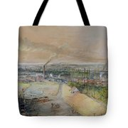 Industrial Landscape In The Blanzy Coal Field Tote Bag by Ignace Francois Bonhomme
