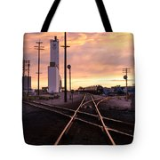 Industrial Rail Yard Tote Bag