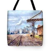 Industrial Railroad Scene  Tote Bag