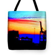 admire an Industrial sunset, because culture is also nature  Tote Bag