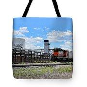 Industrial Train Tote Bag