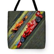 Indy Car's Tony Kanaan Tote Bag by Blake Richards