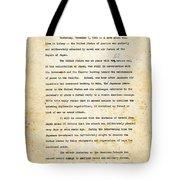 Infamy Tote Bag